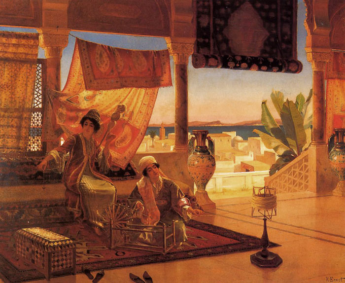 Oil Painting Reproduction of Rudolr Ernst- The Terrace