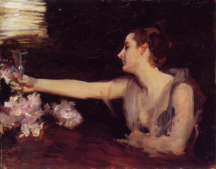 Oil Painting Reproduction of Sargent - Madame Gautreau Drinking a Toast