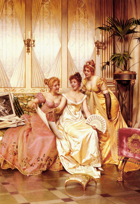 Oil Painting Reproduction of Soulacroix - The Three Connoisseurs