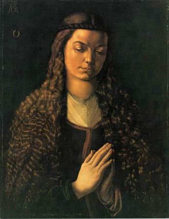 Portrait of a Woman with Her Hair Down painting