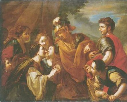 The family of darius beofer alexander the great painting, a Antonio Molinari paintings reproduction,