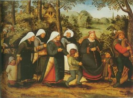 The procession of the Bride painting, a Pieter Brueghel II paintings reproduction, we never sell The