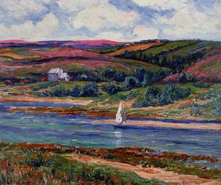 The River at Belon painting, a Henri Moret paintings reproduction