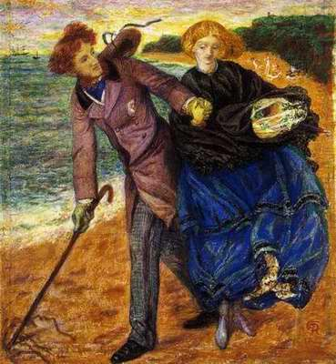 Writing on the Sand painting, a Dante Gabriel Rossetti paintings reproduction, we never sell Writing