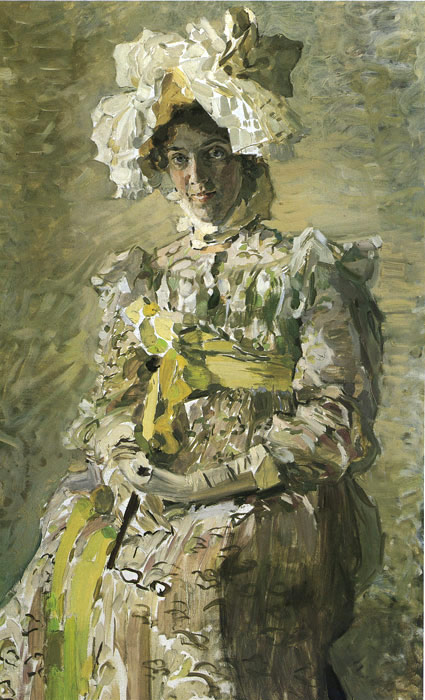 Vrubel Oil Painting Reproductions- Portrait of Nadejda