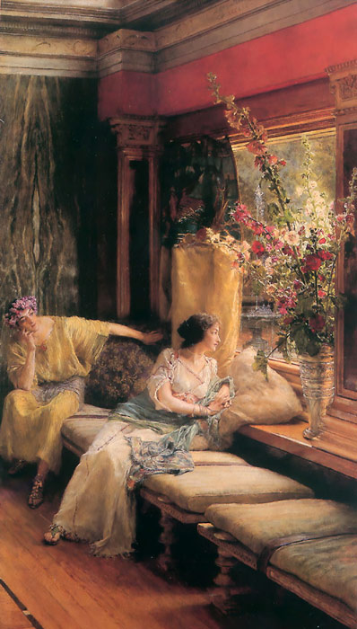 Oil Painting Reproduction of Alma-Tadema - Vain Courtship