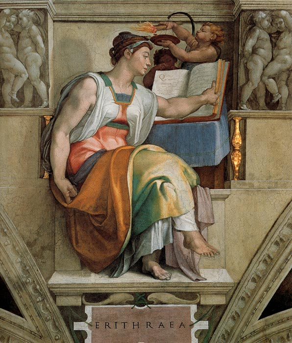 Oil Painting Reproduction of Michelangelo - Sybils: Erithraea