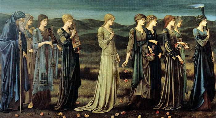 Burne-Jones Oil Painting Reproductions- The Wedding of Psyche