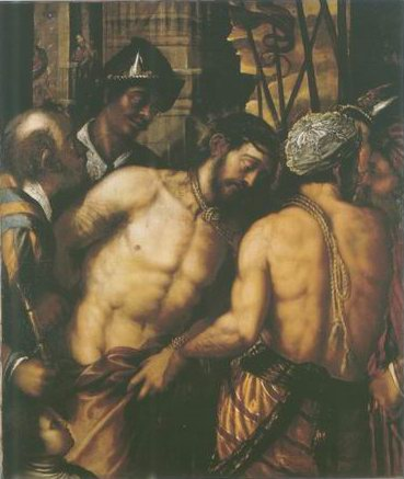 Christ at the Column painting, a Venetian School paintings reproduction