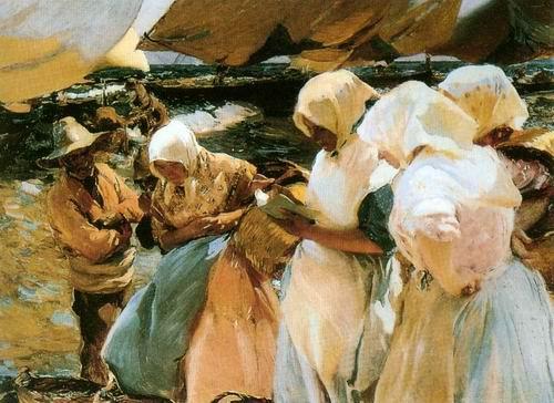 fishermen painting, a Joaquin Sorolla Bastida paintings reproduction
