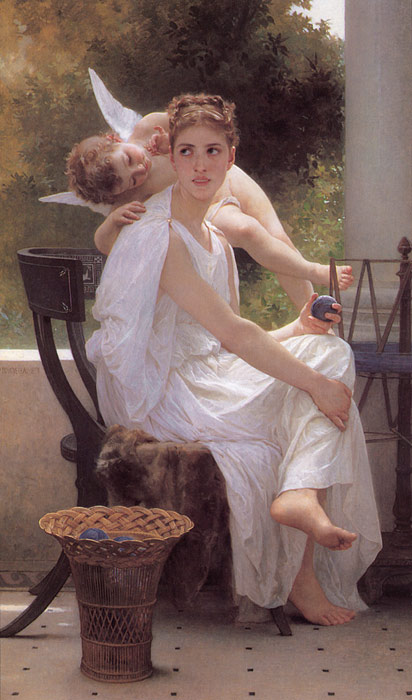 Oil Painting Reproduction of Bouguereau - Work Interrupted