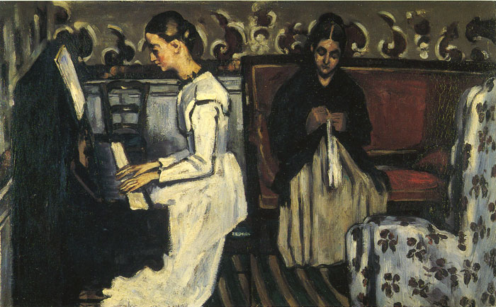 Oil Painting Reproduction of Cezanne - Young Girl at the Piano - Overture to Tannhauser