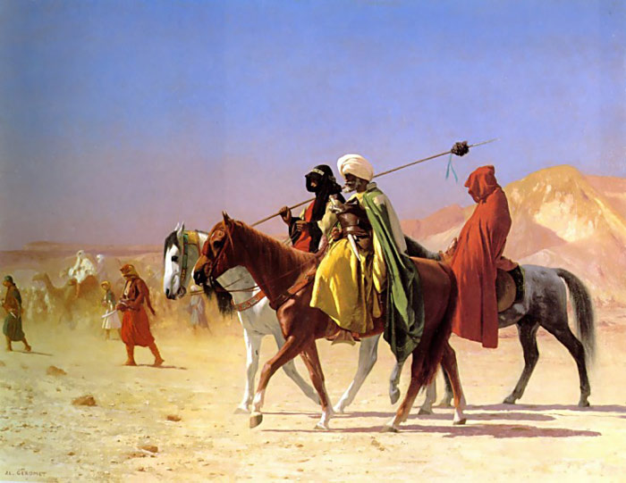 Oil Painting Reproduction of Gerome- Arabs Crossing the Desert