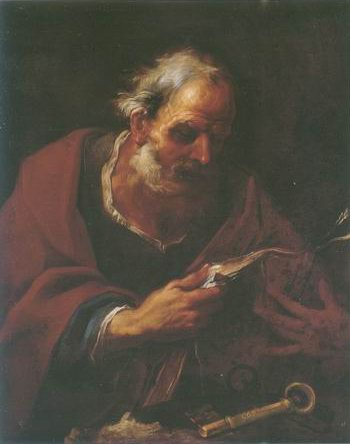 Saint Peter painting, a Pier Francesco Mola paintings reproduction