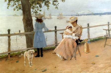 Seaside Holiday painting, a William Merritt Chase paintings reproduction, we never sell Seaside