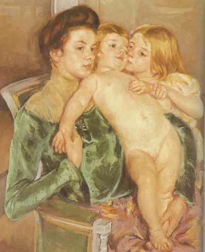 The Caress. 1902 painting, a Mary Cassatt paintings reproduction, we never sell The Caress. 1902