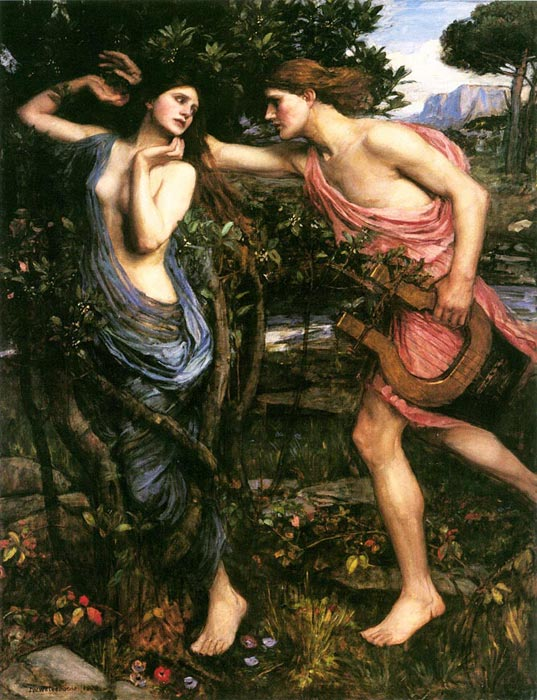 Waterhouse Oil Painting Reproductions - Apollo and Daphne