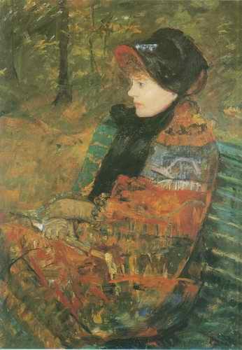 Profile Portrait of Lydia Cassatt (the Artists Si painting, a Mary Cassatt paintings reproduction,