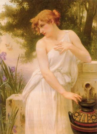 Beauty at the Well painting, a Guillaume Seignac paintings reproduction, we never sell Beauty at the