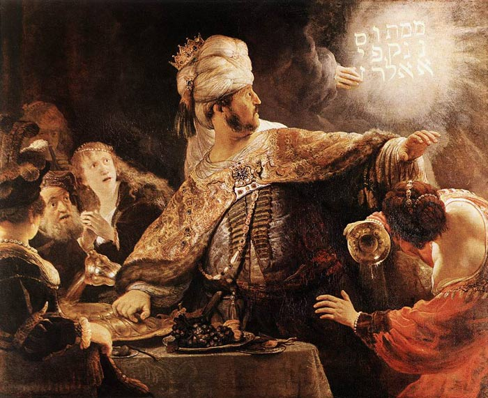 Oil Painting Reproduction of Rembrandt - Belshazzars Feast