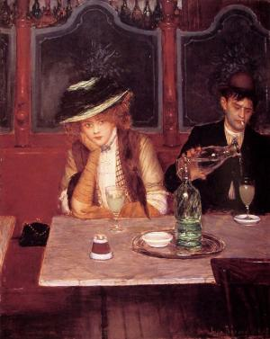 Oil Painting Reproduction of Beraud - The Drinkers