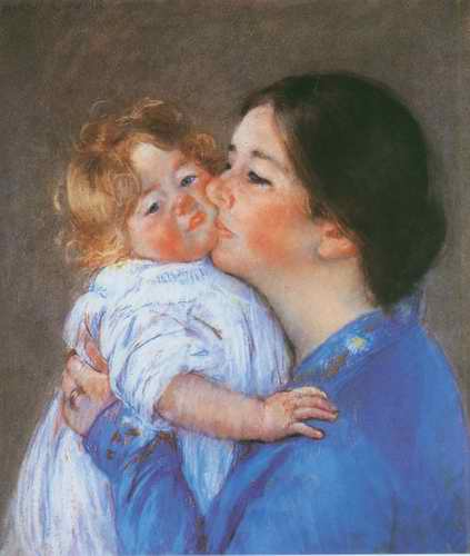 A Kiss for Baby Anne painting, a Mary Cassatt paintings reproduction, we never sell A Kiss for Baby
