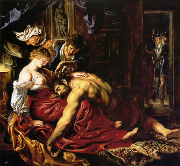 Oil Painting Reproduction of Rubens- Samson and Dalila