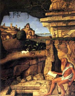 Bellini Oil Painting Reproductions- Saint Jerome Reading