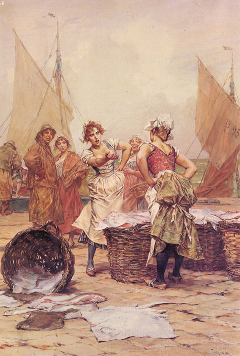 Kaemmerer Oil Painting Reproductions- The Fishwives