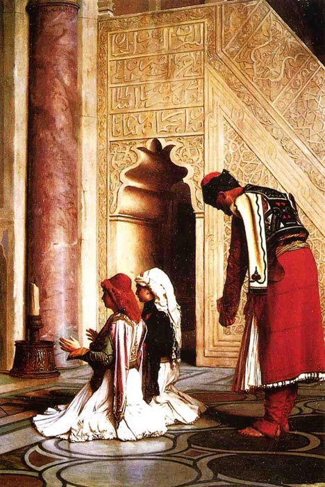 Oil Painting Reproduction of Gerome- Young Greeks in a Mosque