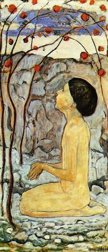 Adoration painting, a Ferdinand Hodler paintings reproduction