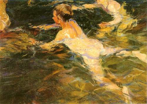 boy in the water painting, a Joaquin Sorolla Bastida paintings reproduction, we never sell boy in