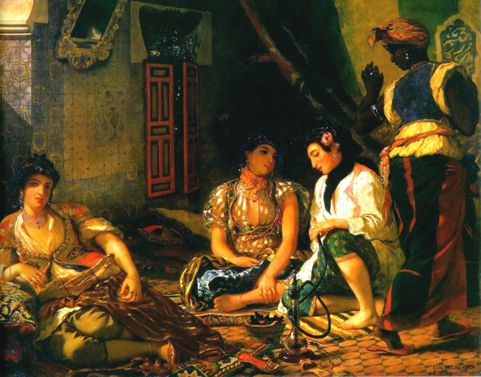 Delacroix Oil Painting Reproductions- Women of Algiers in their Apartment