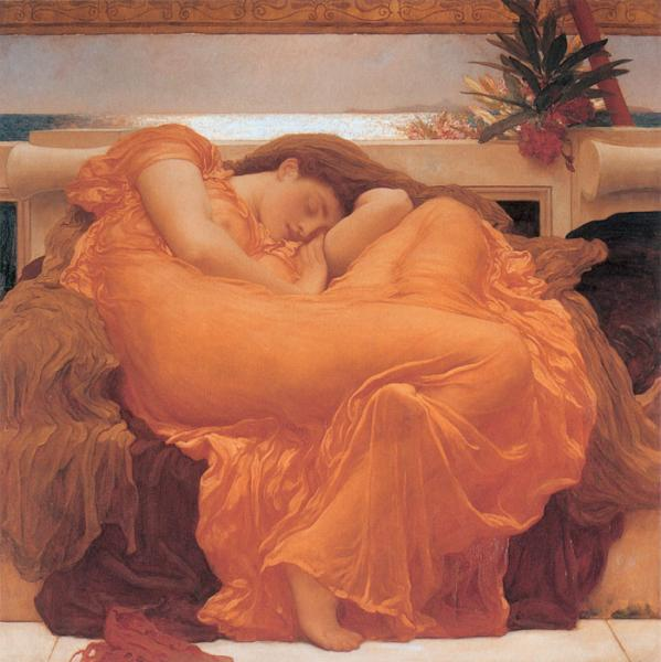 Leighton Oil Painting Reproductions- Flaming June