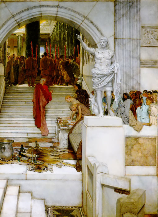 Oil Painting Reproduction of Alma-Tadema - After the Audience
