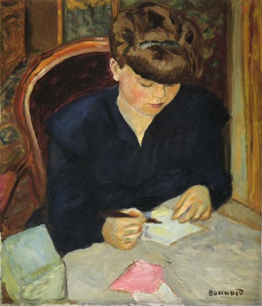 Oil Painting Reproduction of Bonnard- Letter