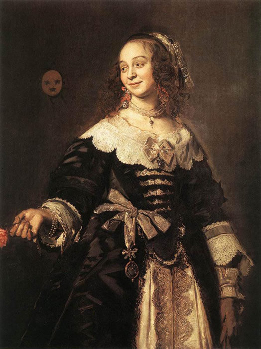 Oil Painting Reproduction of Frans Hals - Isabella Coymans