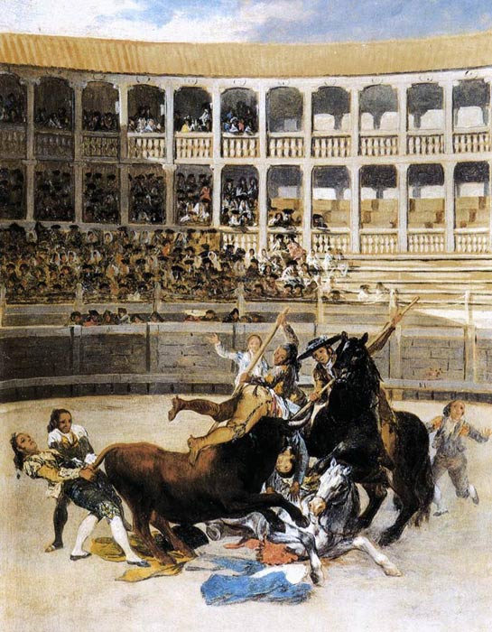 Oil Painting Reproduction of Goya - Picador Caught by the Bull