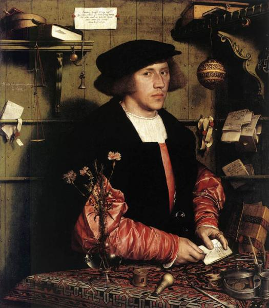 Oil Painting Reproduction of Holbein - Portrait of the Merchant Georg Gisze