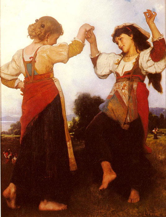 Oil Painting Reproduction of Perrault - The Tarantella