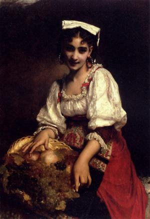 Oil Painting Reproduction of Piot- An Italian Beauty