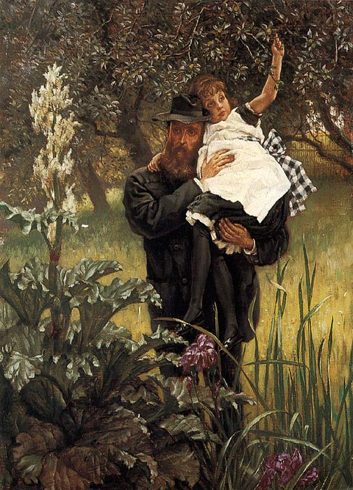 Oil Painting Reproduction of Tissot - The Widower
