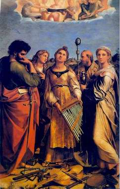St Cecilia painting, a Raphael Santi paintings reproduction, we never sell St Cecilia poster