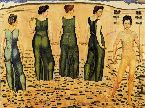 Youth Admired by Women painting, a Ferdinand Hodler paintings reproduction, we never sell Youth