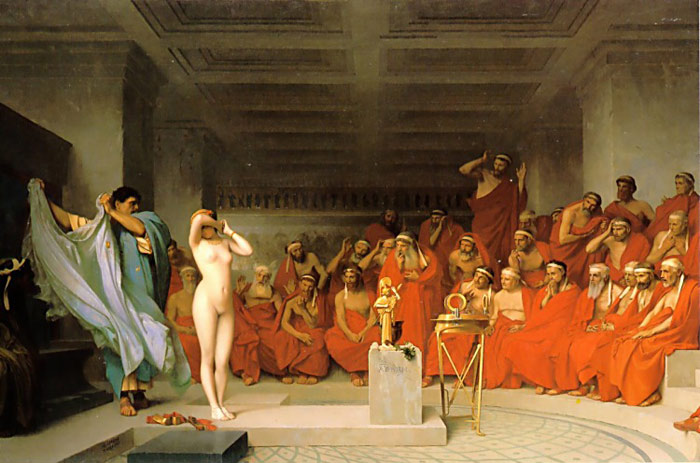Gerome Oil Painting Reproductions- Phryne before the Areopagus