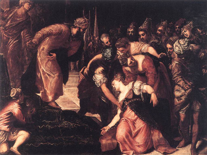 Tintoretto Oil Painting Reproductions - Esther before Ahasuerus