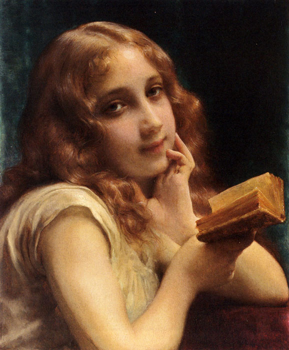 Piot Oil Painting Reproduction - A Little Girl Reading