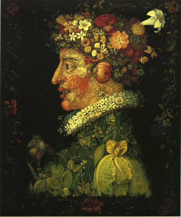Oil Painting Reproduction of Arcimboldo - Spring