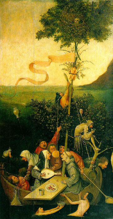 Oil Painting Reproduction of Bosch- The Ship of Fools