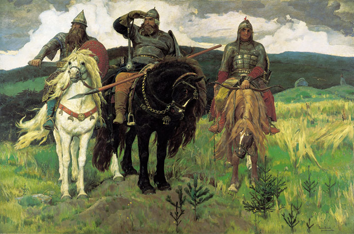 Oil Painting Reproduction of Vasnetsov - Bogatyrs